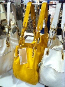 I was not so mellow when I saw this (amaze-balls!) leather yellow gem